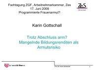 Vortrag von Prof. Dr. Karin Gottschall