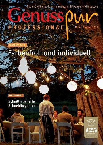 GENUSS PROFESSIONAL, Ausgabe 4/2013