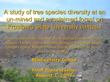 Biodiversity - Frostburg State University