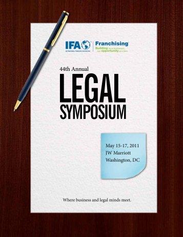44th Annual Legal Symposium - International Franchise Association