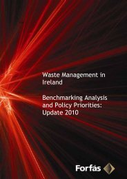 Waste Management in Ireland: Benchmarking Analysis and ... - Forfás