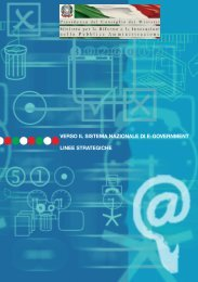 verso il sistema nazionale di e-government linee strategiche