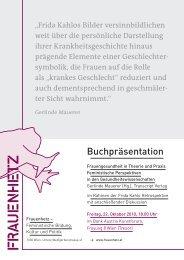 Buchpräsentation - Frauenhetz