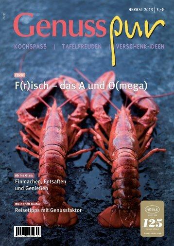 GENUSS PUR, Ausgabe Herbst