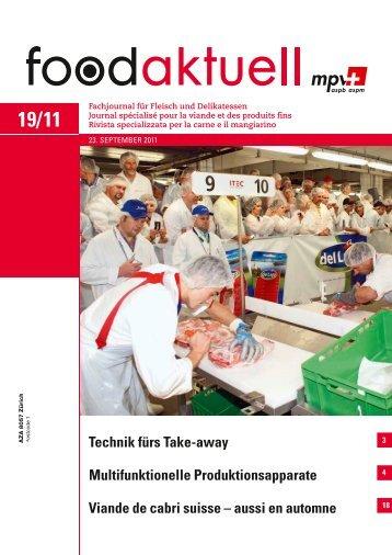Multifunktionelle Produktionsapparate Viande de ... - Foodaktuell.ch