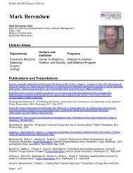 Mark Berendsen - Galter Health Sciences Library