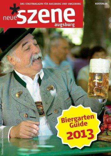 Biergarten-Guide Neue Szene Augsburg 2013