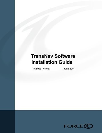 TransNav Software Installation Guide, TN5.0.x - Force10 Networks