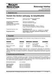 VANISH OxiAction szőnyeg kárpittisztító - Galatea Kft.
