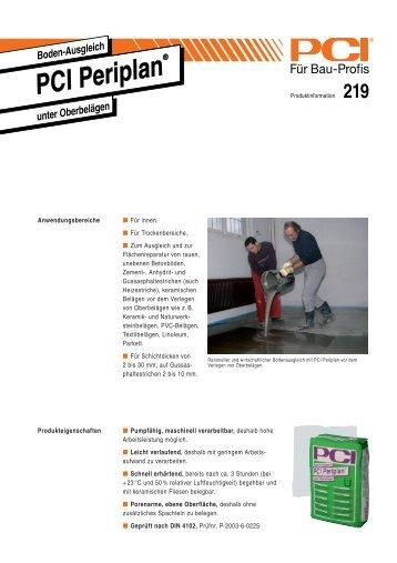PCI Periplan ( Ausgleichmasse ) - Fliesen Lerche