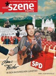 Stadtmagazin Neue Szene Augsburg 2013-08