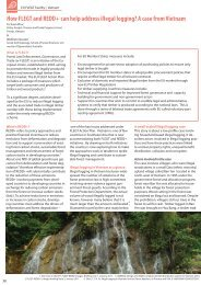How FLEGT and REDD+ can help address illegal ... - Forest Trends