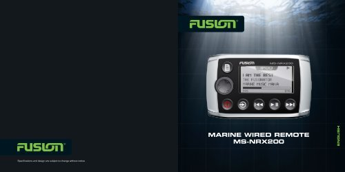 Download manual or factory spec sheet - Rock The Boat Audio