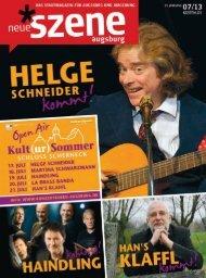 Stadtmagazin Neue Szene Augsburg 2013-07