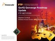 QorIQ Qonverge Base Station SoC Roadmap Update