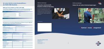 Chemical Process Management - Fuchs Europe Schmierstoffe GmbH