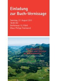 Einladung zur Buch-Vernissage - Gemeinde Flühli