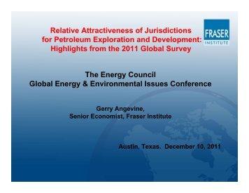 Petroleum Exploration and Development - Fraser Institute