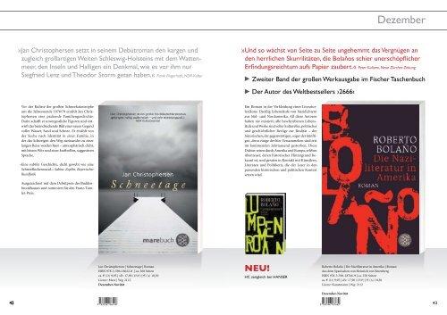 Belletristik | Oktober 2010 Fischer Taschenbuch - S. Fischer Verlag