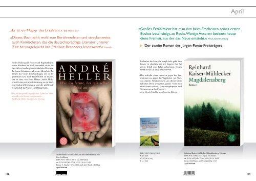 Belletristik   Oktober 2010 Fischer Taschenbuch - S. Fischer Verlag