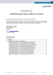 Informationen zum - LANCOM Systems GmbH
