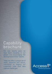 Capability brochure (pdf) - Access IS