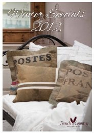 Winter Specials 2012 - French Country Collections