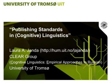 """Publishing Standards in (Cognitive) Linguistics"""