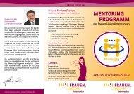 Mentoring PrograMM - Frauen-Union der CSU