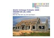 Statik-Infotage Frühjahr 2009 ÖNORM EN (B) 1996 - Frilo