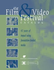 2007 Film & Video Festival Catalog - Council on Foundations - Film ...