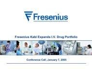 Fresenius Kabi Expands I.V. Drug Portfolio