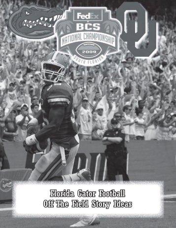 Florida Gator Football Off The Field Story Ideas - GatorZone.com