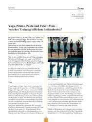 Yoga, Pilates, Paula und Power Plate - Frauenheilkunde aktuell