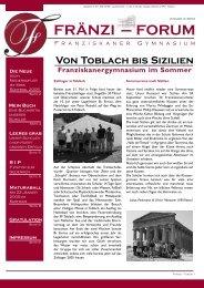 FRÄNZI – FORUM - Franziskanergymnasium Bozen