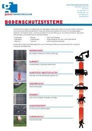 Bodenschutzsysteme - Gasser Baumaterialien AG