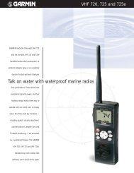 Talk on water with waterproof marine radios - Garmin