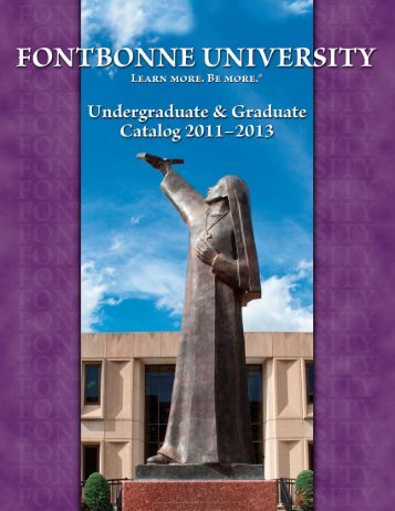 2011-2013 Course Catalog - Fontbonne University
