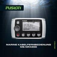 MARINE KABELFERNBEDIENUNG MS-NRX200 - Fusion