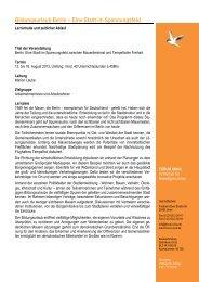 Bildungsurlaub - Programm Berlin Spannungsfeld 2013 - Forum Unna