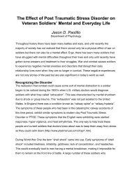 The Effect of Post Traumatic Stress Disorder on Veteran Soldiers ...