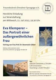 Eva Klemperer - Freundeskreis Dresdner Synagoge