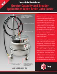 Greater Capacity and Broader Applications Make Brake ... - KD Tools