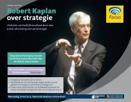 Robert Kaplan over strategie - Focus Conferences