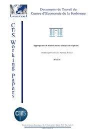 Centre d'Economie de la Sorbonne - Financial Risk and Stability ...