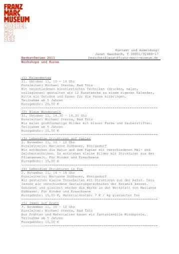 Page 1 Kontakt und Anmeldung: Janet Haarbach, T 08851/92488 ...