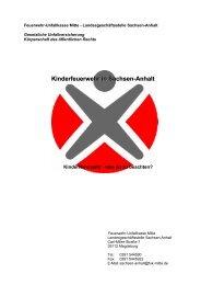 Kinderfeuerwehr in Sachsen-Anhalt - FUK-Mitte
