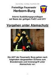Vorgehen unter Atemschutz - Freiwillige Feuerwehr Burg