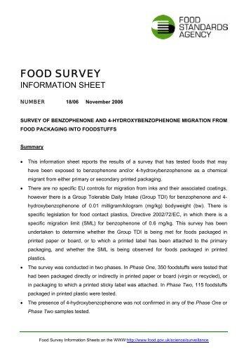 FSIS 18/06 - Food Standards Agency