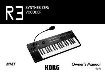 R3 owner's manual - Korg